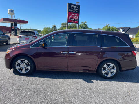 2012 Honda Odyssey for sale at TAVERN MOTORS in Laurens SC