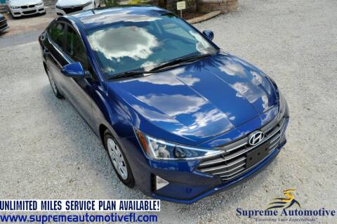2020 Hyundai Elantra for sale at Supreme Automotive in Land O Lakes FL