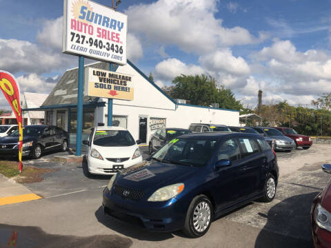 2004 Toyota Matrix for sale at Sunray Auto Sales Inc. in Holiday FL