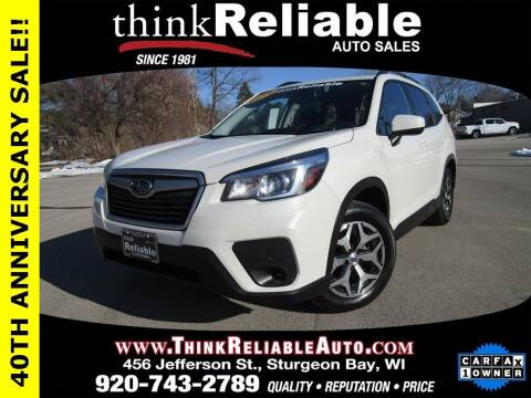 2019 Subaru Forester for sale at RELIABLE AUTOMOBILE SALES, INC in Sturgeon Bay WI