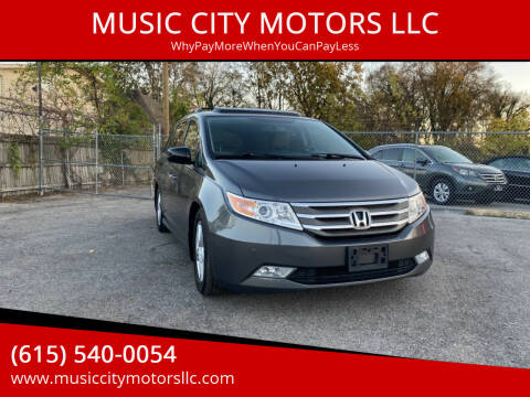 2013 Honda Odyssey for sale at MUSIC CITY MOTORS LLC in Nashville TN