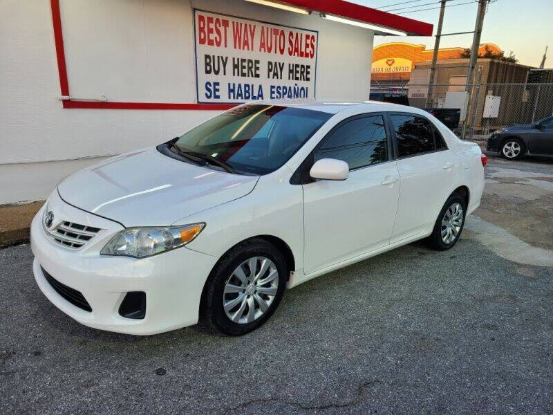 2013 Toyota Corolla for sale at Best Way Auto Sales II in Houston TX