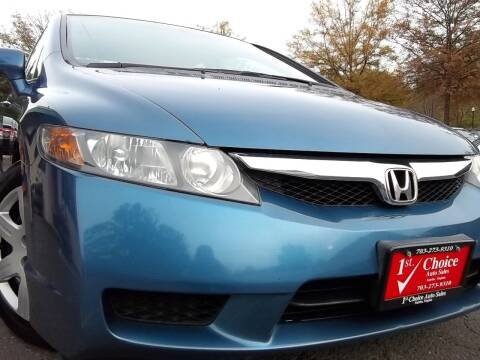 2009 Honda Civic for sale at 1st Choice Auto Sales in Fairfax VA
