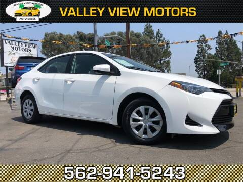 2017 Toyota Corolla for sale at Valley View Motors in Whittier CA