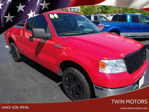 2004 Ford F-150 for sale at TWIN MOTORS in Madison OH