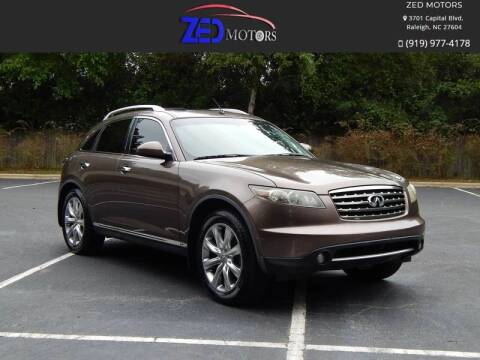 2008 Infiniti FX45 for sale at Zed Motors in Raleigh NC