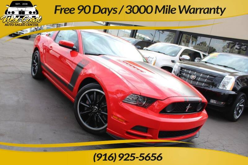 2013 Ford Mustang for sale at West Coast Auto Sales Center in Sacramento CA