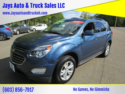 2017 Chevrolet Equinox for sale at Jays Auto & Truck Sales LLC in Loudon NH