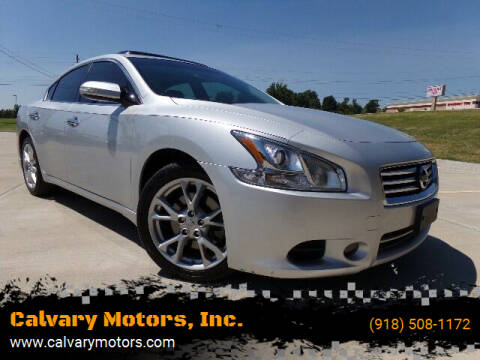 2014 Nissan Maxima for sale at Calvary Motors, Inc. in Bixby OK