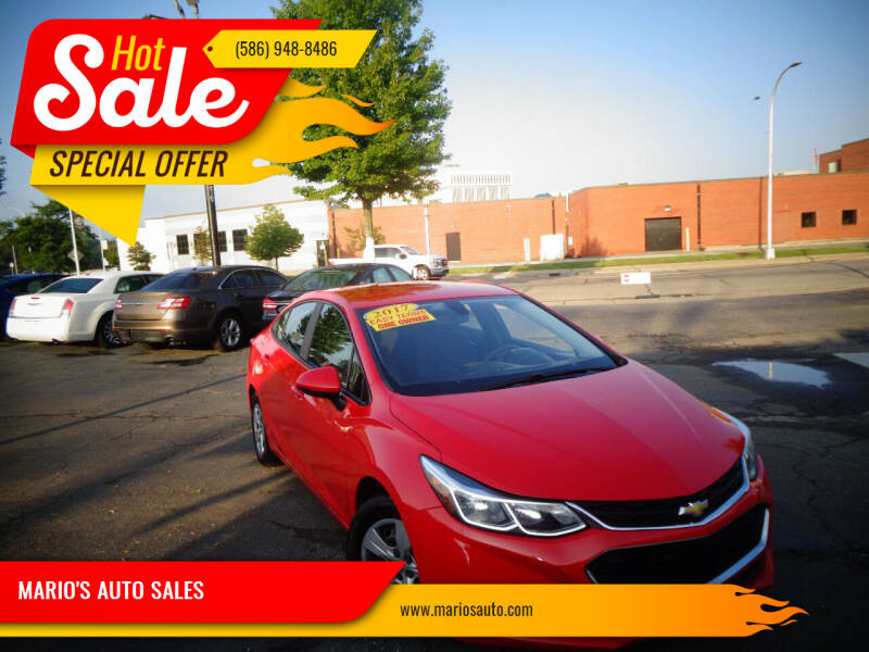 2017 Chevrolet Cruze for sale at MARIO'S AUTO SALES in Mount Clemens MI