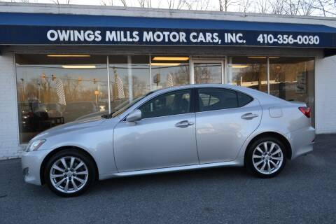 2008 Lexus IS 250 for sale at Owings Mills Motor Cars in Owings Mills MD