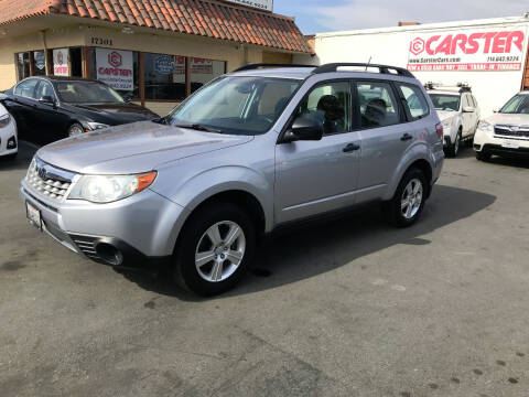 2012 Subaru Forester for sale at CARSTER in Huntington Beach CA