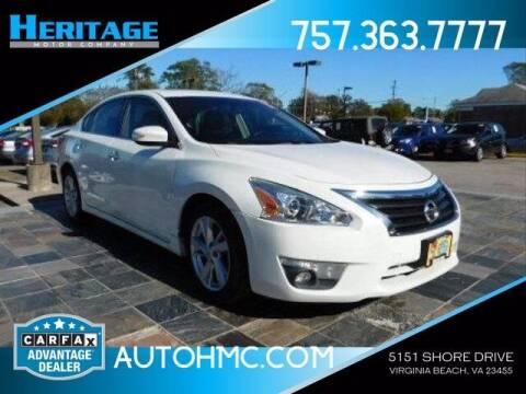 2013 Nissan Altima for sale at Heritage Motor Company in Virginia Beach VA