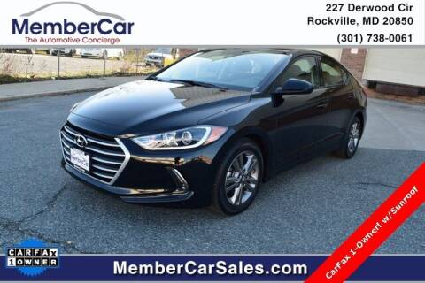 2018 Hyundai Elantra for sale at MemberCar in Rockville MD