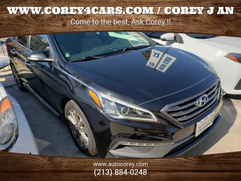 2017 Hyundai Sonata for sale at WWW.COREY4CARS.COM / COREY J AN in Los Angeles CA
