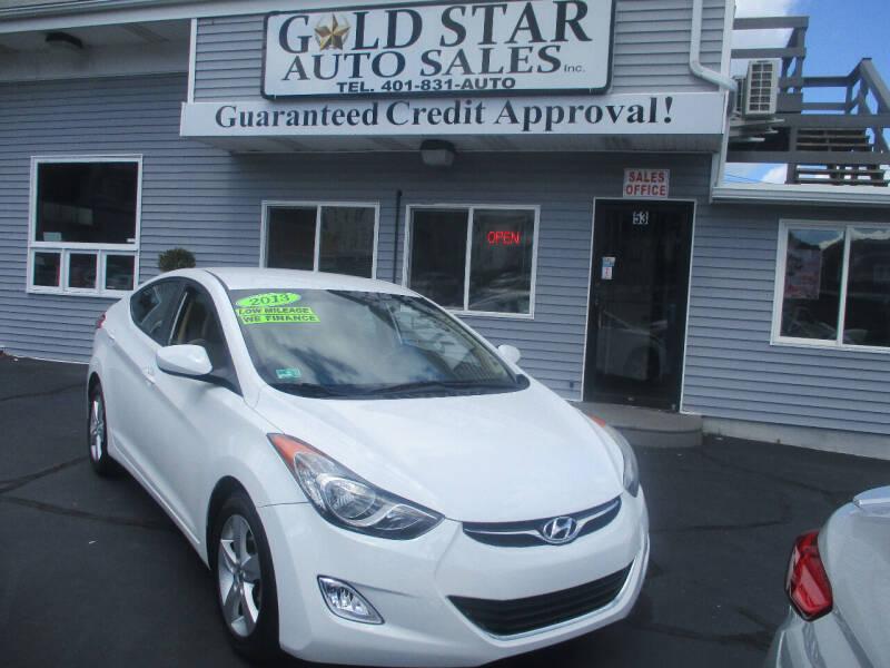 2013 Hyundai Elantra for sale at Gold Star Auto Sales in Johnston RI