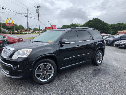 2012 GMC Acadia for sale at Penland Automotive Group in Laurens SC