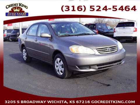 2003 Toyota Corolla for sale at Credit King Auto Sales in Wichita KS