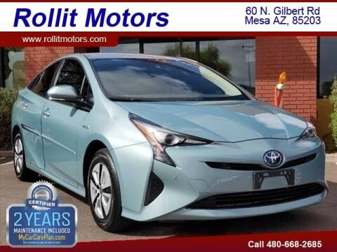 2018 Toyota Prius for sale at Rollit Motors in Mesa AZ