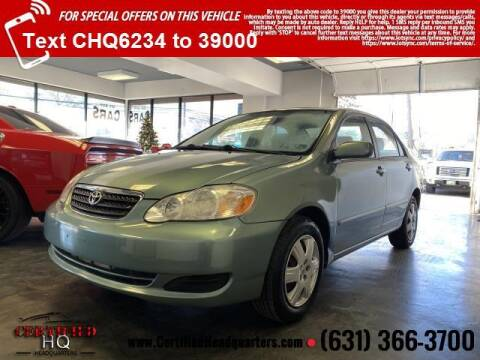 2005 Toyota Corolla for sale at CERTIFIED HEADQUARTERS in St James NY