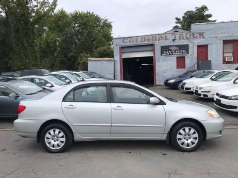 2004 Toyota Corolla for sale at Dan's Auto Sales and Repair LLC in East Hartford CT