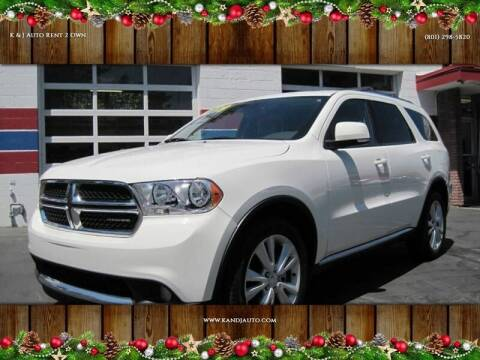 2012 Dodge Durango for sale at K & J Auto Rent 2 Own in Bountiful UT
