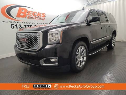 2017 GMC Yukon XL for sale at Becks Auto Group in Mason OH