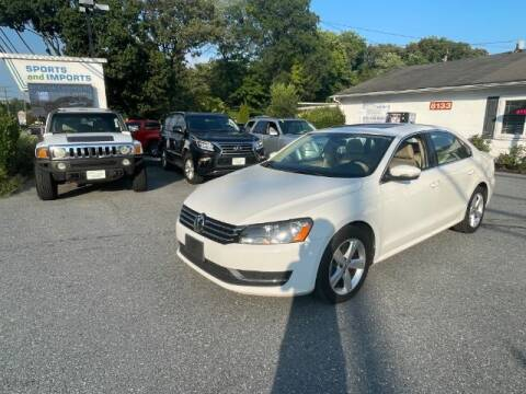 2013 Volkswagen Passat for sale at Sports & Imports in Pasadena MD