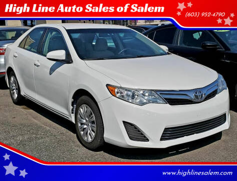 2012 Toyota Camry for sale at High Line Auto Sales of Salem in Salem NH