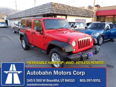 2018 Jeep Wrangler JK Unlimited for sale at Autobahn Motors Corp in Bountiful UT