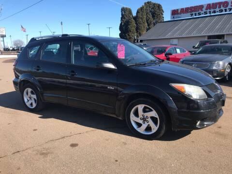 2004 Pontiac Vibe for sale at BLAESER AUTO LLC in Chippewa Falls WI