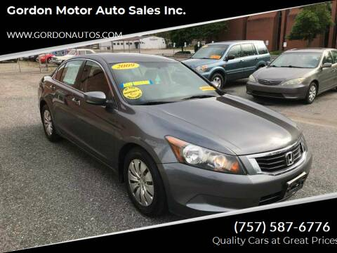 2009 Honda Accord for sale at Gordon Motor Auto Sales Inc. in Norfolk VA