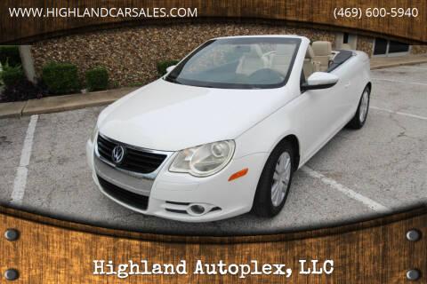 2009 Volkswagen Eos for sale at Highland Autoplex, LLC in Dallas TX