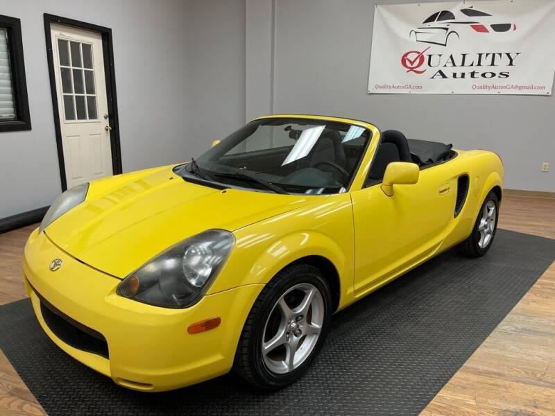 2001 Toyota MR2 Spyder for sale at Quality Autos in Marietta GA
