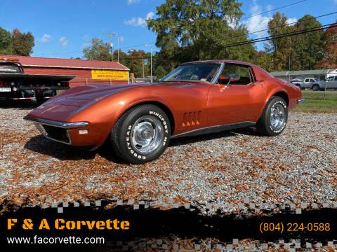 1968 Chevrolet Corvette for sale at F & A Corvette in Colonial Beach VA