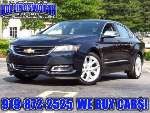 2018 Chevrolet Impala for sale at Hollingsworth Auto Sales in Raleigh NC
