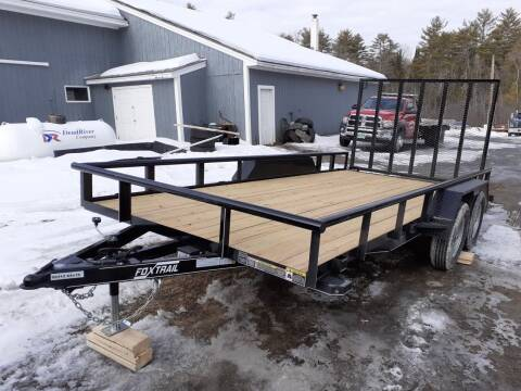 """2021 Foxtrail 84"""" x 16' Utility Trailer for sale at Mascoma Auto INC in Canaan NH"""