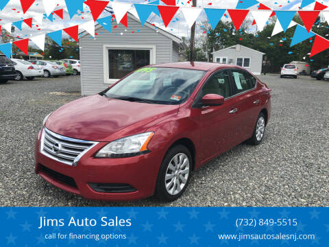 2013 Nissan Sentra for sale at Jims Auto Sales in Lakehurst NJ