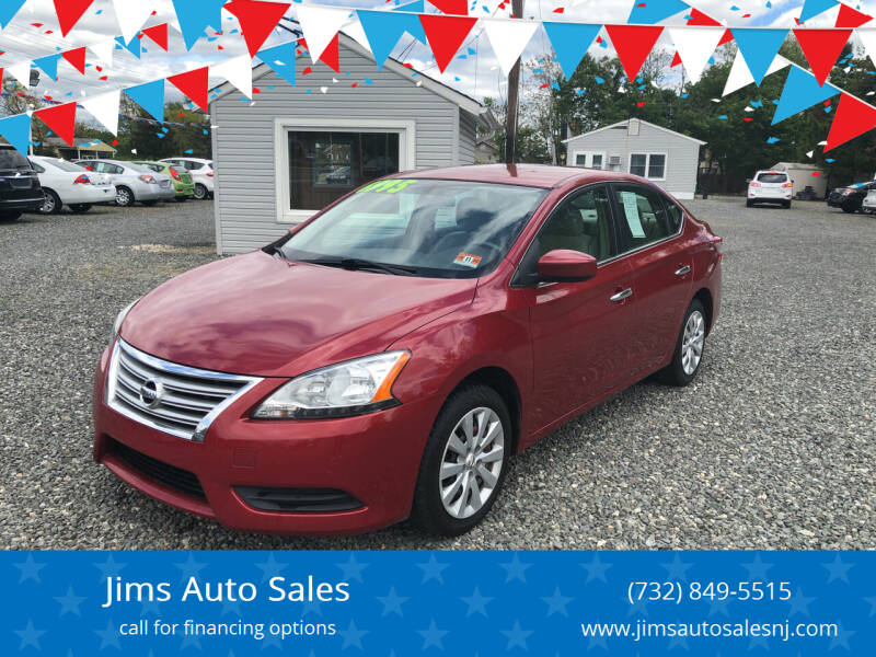 2013 Nissan Sentra for sale at Jims Auto Sales in Lakehurst NJ