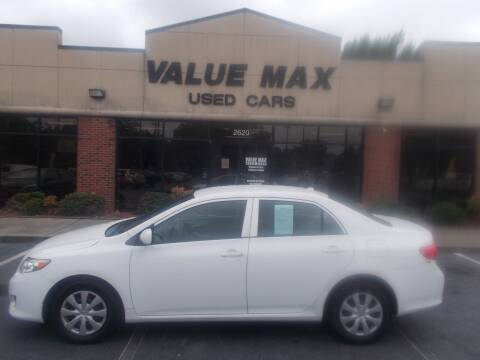 2010 Toyota Corolla for sale at ValueMax Used Cars in Greenville NC