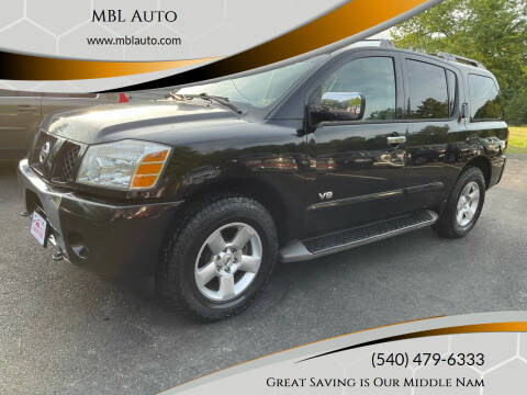 2007 Nissan Armada for sale at MBL Auto Woodford in Woodford VA