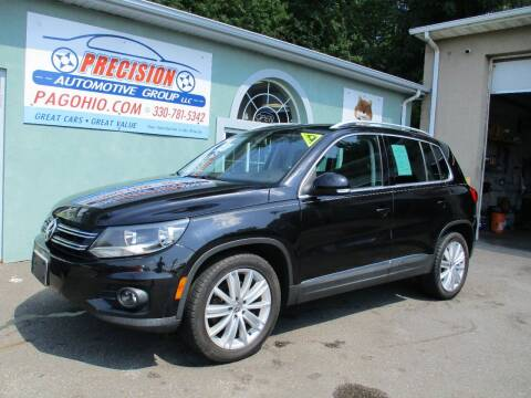 2013 Volkswagen Tiguan for sale at Precision Automotive Group in Youngstown OH