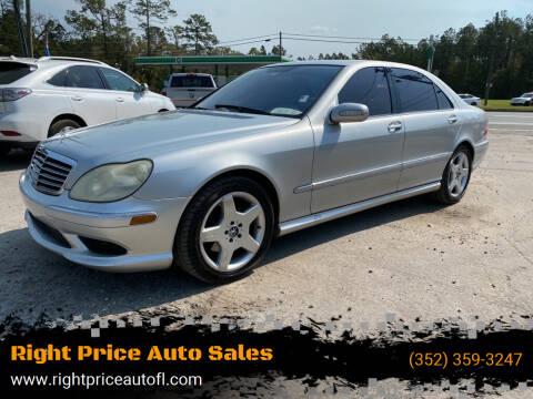2004 Mercedes-Benz S-Class for sale at Right Price Auto Sales in Waldo FL