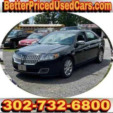2012 Lincoln MKZ for sale at Better Priced Used Cars in Frankford DE