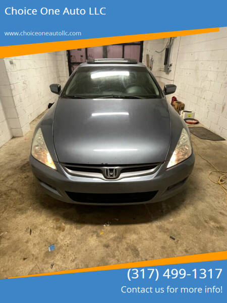 2006 Honda Accord for sale at Choice One Auto LLC in Beech Grove IN