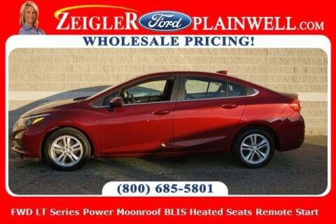 2016 Chevrolet Cruze for sale at Zeigler Ford of Plainwell- Jeff Bishop in Plainwell MI