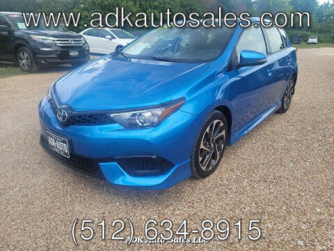 2018 Toyota Corolla iM for sale at ADK AUTO SALES LLC in Austin TX