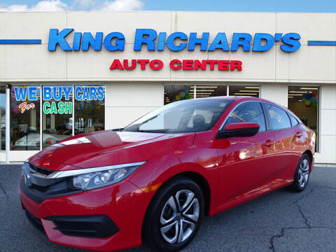 2017 Honda Civic for sale at KING RICHARDS AUTO CENTER in East Providence RI