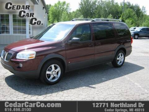 2006 Pontiac Montana SV6 for sale at Cedar Car Co in Cedar Springs MI