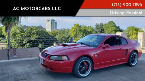 1999 Ford Mustang for sale at AC MOTORCARS LLC in Houston TX